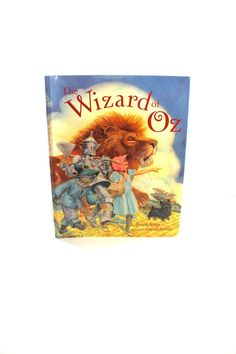 "Gorgeously-illustrated vintage ""The Wizard of Oz"" hardcover book - L. Frank Baum, Charles Santore, children's classic stories, Dorothy, Toto"