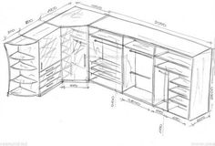 Шкаф-купе, угловой шкаф и пенал