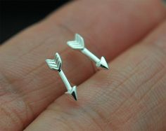 Tiny arrows Sterling Silver Stud Earrings arrows Ear by SimpleStep, $7.00