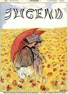 Jugend (women in field), 1896 by H. Meyer-Cassel