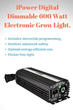 Free UK delivery Horti King Dimmable Digital Ballast 660w max 600w NEW