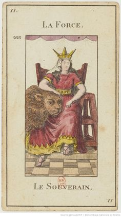 "[Jeu de tarot divinatoire dit ""Grand Etteilla"" ou ""tarot égyptien""] : [jeu de cartes, estampe] | Gallica"