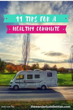 Tips For A Healthy Commute: Be A Rock Star At Commuting to Work. Stay healthy, stay awake, and have fun with these travel tips and nutrition advice! *************************************healthy commuting, commuting to work, Travel commute, road trips, #commutingtowork #commuting #travelforwork