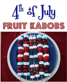 4th of July Fruit Kabobs! ~ from TheFrugalGirls.com ~ these make the perfect 4th of July patriotic party desserts... both kids and adults will be begging for more dessert! #4thofjuly #recipes #thefrugalgirls