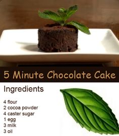 Quick and easy microwave cake recipes