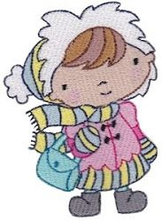 Winter Cuties 5 - 2 Sizes!   What's New   Machine Embroidery Designs   SWAKembroidery.com Bunnycup Embroidery