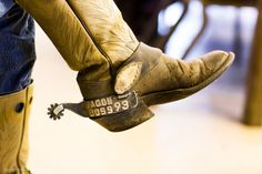 Jimbo Glover's boots. #ranchlife #texascowboys See more #cowboy boots on our blog.    Photography by Jeremy Enlow
