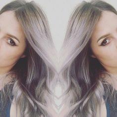Gray to lavender balayage. Hair by SALON by milk + honey stylist, Taylor G.