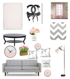 """""""Chanel No. 1"""" by laurentftstyles on Polyvore featuring interior, interiors, interior design, home, home decor, interior decorating, I Love Living, Chanel, Oliver Gal Artist Co. and WallPops"""