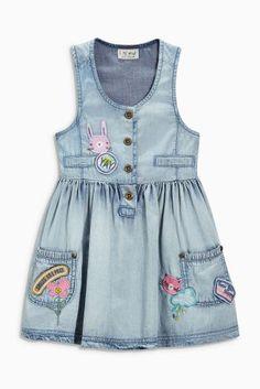 Buy Denim Badge Dress (3mths-6yrs) from the Next UK online shop
