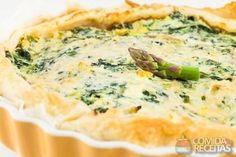 Receita de Quiche de ricota com espinafre em receitas de tortas salgadas, veja essa e outras receitas aqui!