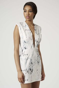 Photo 3 of **Printed Plunge Scuba Mini Dress by Rare