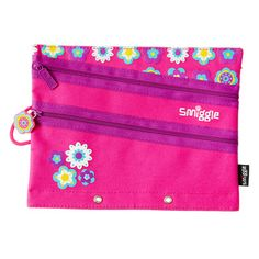 B2s A5 Canvas Pencilcase from Smiggle - flower