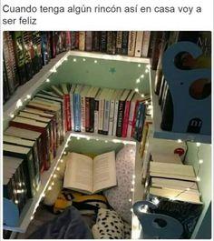 I love libros Aesthetic Room Decor, Book Aesthetic, Bookshelf Inspiration, Interior Design Minimalist, Dream Library, Book Memes, Book Nooks, Dream Rooms, I Love Books