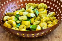 Grilled Sausage and Summer Squash with Herbs, Capers, Kalamata Olives, and Lemon (Low-Carb, Gluten-Free) | Kalyn's Kitchen®