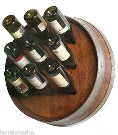 Quarter barrel wine rack