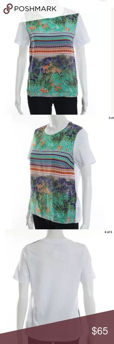 MSGM silk front top Sz small nwt Printed silk front top nwt bergdorf goodman MSGM Tops Blouses