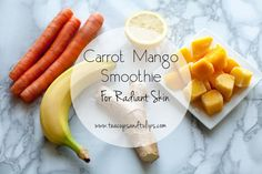 Carrot Mango Smoothie for radiant skin