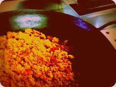 "ummm, cooking ""Migas"" from the ""Caserío de San Benito"", #TraditionalSpanishFood"