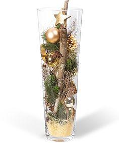 bildergebnis f r gro es glas weihnachtlich dekorieren blumen weihnachten pinterest. Black Bedroom Furniture Sets. Home Design Ideas