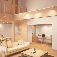 LED MODIFY ペンダントシャンデリア(吹き抜け)  実例・設置イメージ集 | 照明のライティングファクトリー Japanese Modern House, Japanese Home Decor, Minimalist Bedroom, Minimalist Home, Muji Home, High Ceiling Living Room, Interior Architecture, Interior Design, Hygge Home