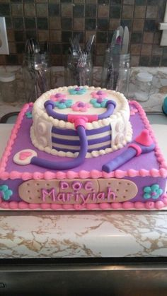 Photo Only Doc McStuffins Cake TwistinTwirlinTutus