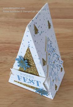 kleine Geschenkverpackung mit der Kuchenstanzform von Stampin'Up! www.stempelzeit.com