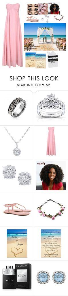 """""""Ariella's Wedding"""" by xxxladiidxxx ❤ liked on Polyvore featuring Kobelli, EWA, Alice & You, Effy Jewelry, Tory Burch and Bulgari"""