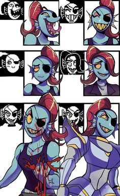 WHOA geez Undyne you need to calm down on the lower left corner....