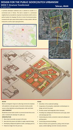 WEEK 7: STRUCTURE TRANSFORMED.  I chose a residential area to transfer it to a commercial center in Tehran. This land is surrounded by commercial and important public developments. the land is partially developed and easily accessible by highways.