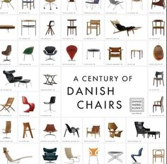 A Century of Danish Chairs--by Various Artists--No frame--Dansk Møbel Kunst