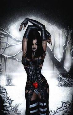 ~Gothic Art Charming touches of art and imagination Gothic Fantasy Art, Fantasy Art Women, Gothic Fairy, Fantasy Kunst, Dark Beauty, Gothic Beauty, Gothic Kunst, Beautiful Dark Art, Vampire Art