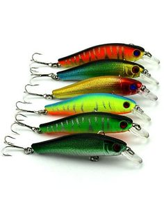 6pcs Hengjia Minnow Baits 8.9g 85mm Fishing Lures Random Colors * You can get additional details at the image link.