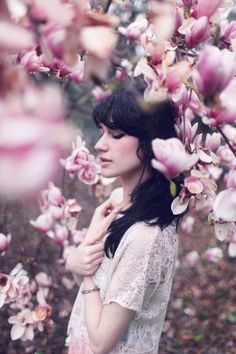 by Anna Szczekutowicz Spring Photography, Cute Photography, People Photography, Portrait Photography, Cherry Blossom Images, Little Girl Photos, Photoshoot Concept, Spring Pictures, Outdoor Portraits