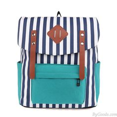 Retro Navy Striped Trunk Practical Backpack  only $34.99 in ByGoods.com!