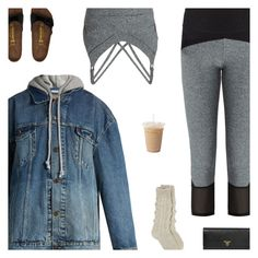 """""""Coffee Run"""" by amberelb ❤ liked on Polyvore featuring Track & Bliss, Levi's, Birkenstock and Prada"""