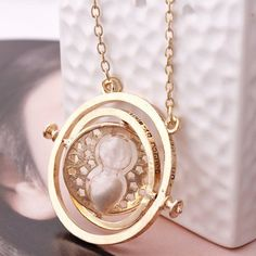 Time Turner Necklace - Inspired By Harry Potter WHITE