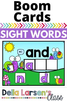 "Use Boom Cards to teach pre- primer sight words. Boom Cards make terrific literacy and word work centers! Increase your students' spelling and reading skills. Each card ""reads"" the sight word to your student. Students then build the word. The sound feature is a game changer for teaching sight words. Turn learning high frequency words into a digital game. Boom Cards are self-checking so they give your students immediate feedback on their counting skills. Literacy Stations, Literacy Skills, Literacy Centers, Guided Reading Groups, Reading Skills, Kindergarten Readiness, Kindergarten Classroom, Game Boom, Pre Primer Sight Words"