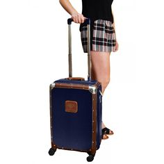 "The Petit Avion Steamer S 20"" Trolley is an ultra chic, carry-on approved piece infused with incredible style and a myriad of functional features!   Shop now for 74% off: http://chictreat.com   #chictreat #luggage #travel #styledeals #leather"