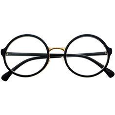 9b89a5b88b7 Clear Lens Retro Vintage Style Round Eyeglasses Frames R1001 freyrs ( 5) ❤  liked on