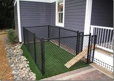 A small (very small) backyard dog run right off the porch or deck...when I get a house of my own and pups