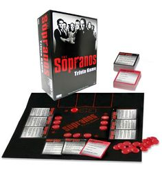 153 best I Love Trivia Games images on Pinterest   Trivia games     The Sopranos Trivia Game   Based on the HBO mobster hit TV show   Includes  1 000