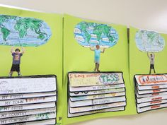 idea for first week of school/teaching map skills and continents.Great idea for first week of school/teaching map skills and continents. Teaching Map Skills, Teaching Maps, Student Teaching, Teaching Geography, Map Activities, Social Studies Activities, Teaching Social Studies, Classroom Fun, Classroom Activities