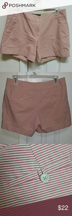 Outback Red shorts. Shorts from Outback Red sold at The Limited. Size 6. Red and cream stripes.  Worn minimal times. No discoloration or imperfections. The Limited Shorts