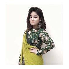 How adorable is she! In our SAGE collection. Crushing over how cute she looks in our double drape saree. Ethnic Outfits, Indian Outfits, Fashion Outfits, Ethnic Clothes, Mom Fashion, Trendy Sarees, Stylish Sarees, Zaira Wasim, Saree Blouse Neck Designs