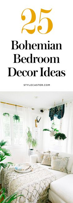 bohemian room diy 25 Bohemian Bedroom Decor Ideas these modern boho bedrooms are filled with gorgeous tapestries, colorful + textured bedding, beautiful Morrocan rugs, and unique wall art ideas. Bohemian Room, Bohemian Bedroom Decor, Home Decor Bedroom, Bedroom Wall, Bedroom Ideas, Diy Bedroom, Bedroom Designs, Bohemian Bedding, Bedroom Furniture