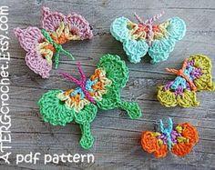 Etsy の Crochet pattern HEART 'color burst' by by ATERGcrochet
