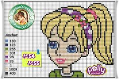 Polly Pocket perler bead pattern by Carina Cassol - http://carinacassol.blogspot.com.br/