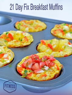 21 Day Fix Breakfast Muffin Recipe from the new cookbook, FIXATE! Perfect inexpensive breakfast idea for vegetarians or meat eaters. Perfect Whole30 recipe idea!