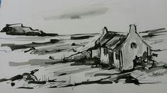 Ink sketch Delia Crozier